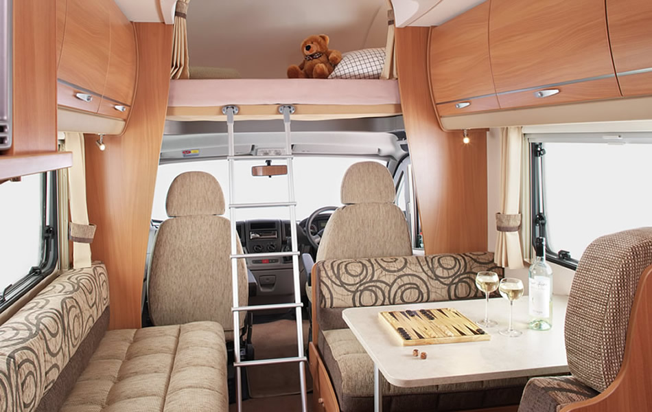 4-6 Berth Living Area and Over Cab Sleeping Access